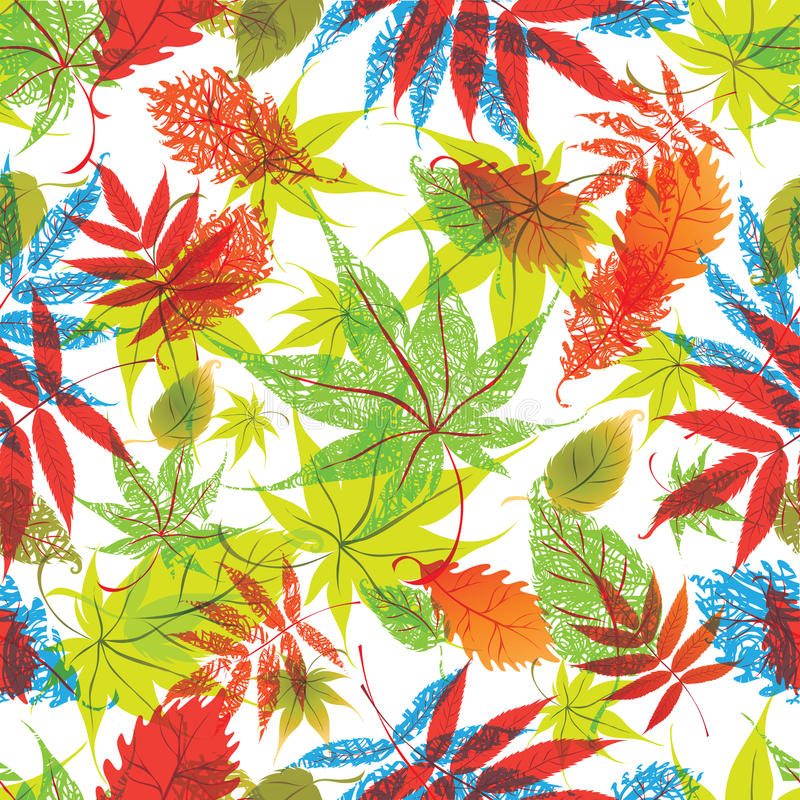 Het bloemen patroon met doorbladert vector illustratie