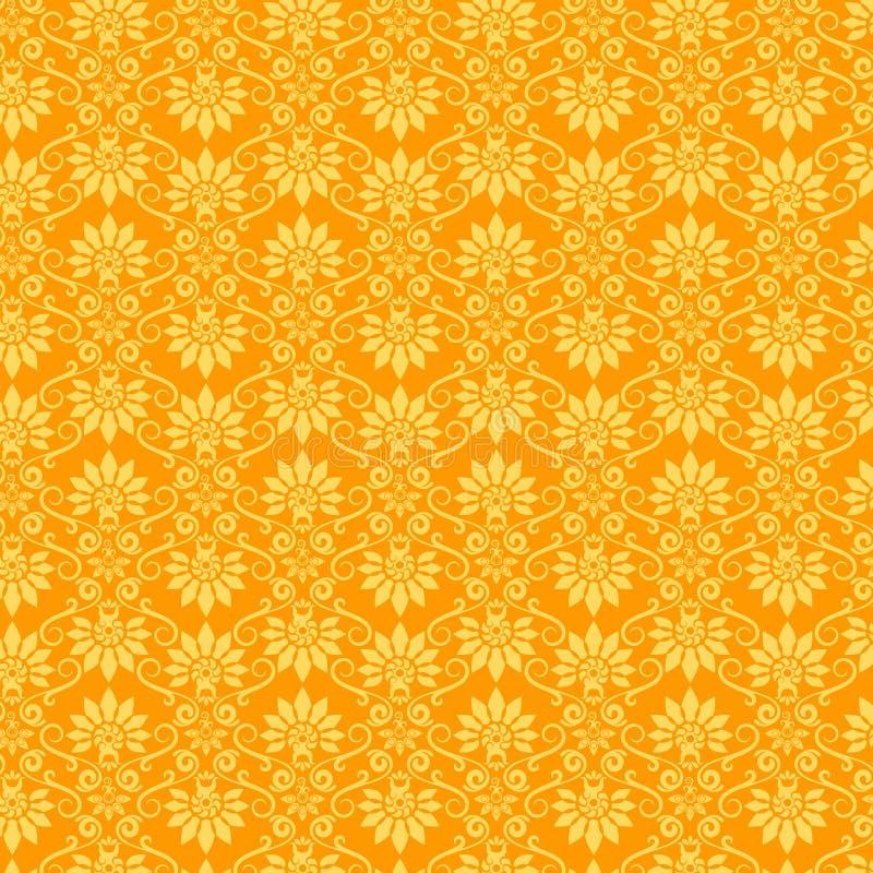 Het bloemen Patroon van het Behang royalty-vrije illustratie