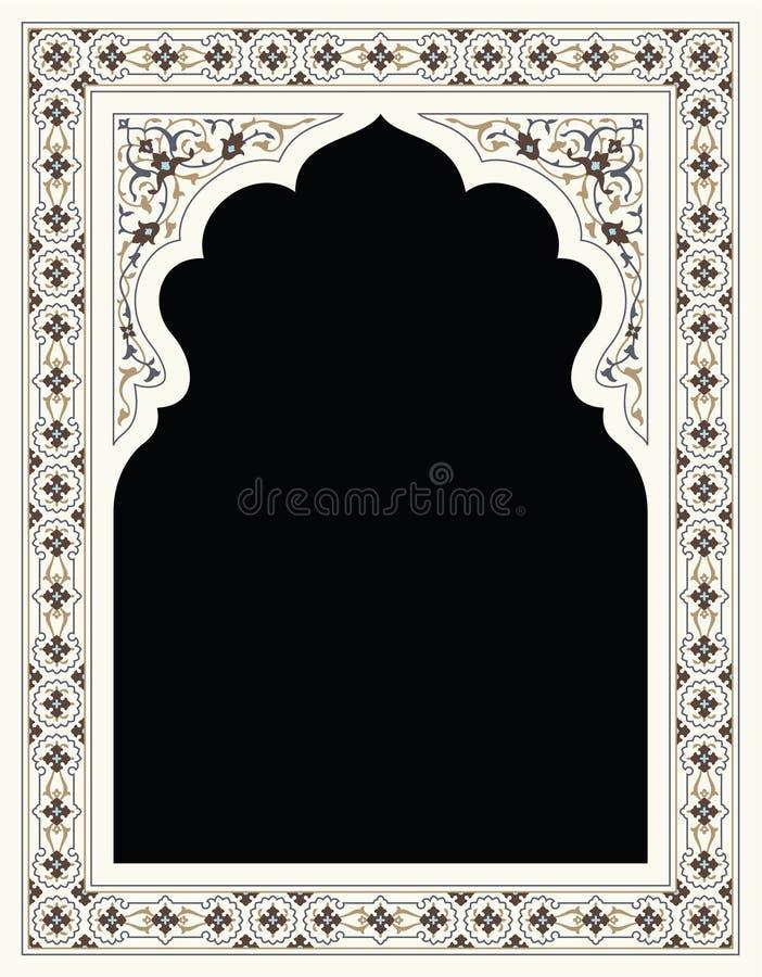 Het BloemenFrame van Agra vector illustratie