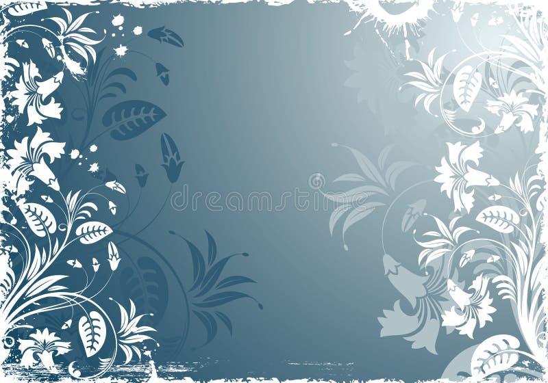 Het BloemenFrame van Grunge stock illustratie