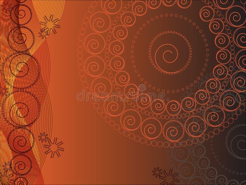 Het Bloemenontwerp van de cirkel (vector) stock illustratie