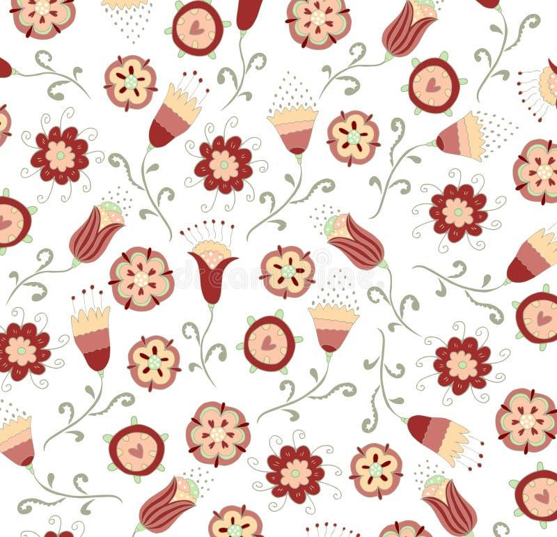 Het bloemenontwerp van de patroonstof vector illustratie