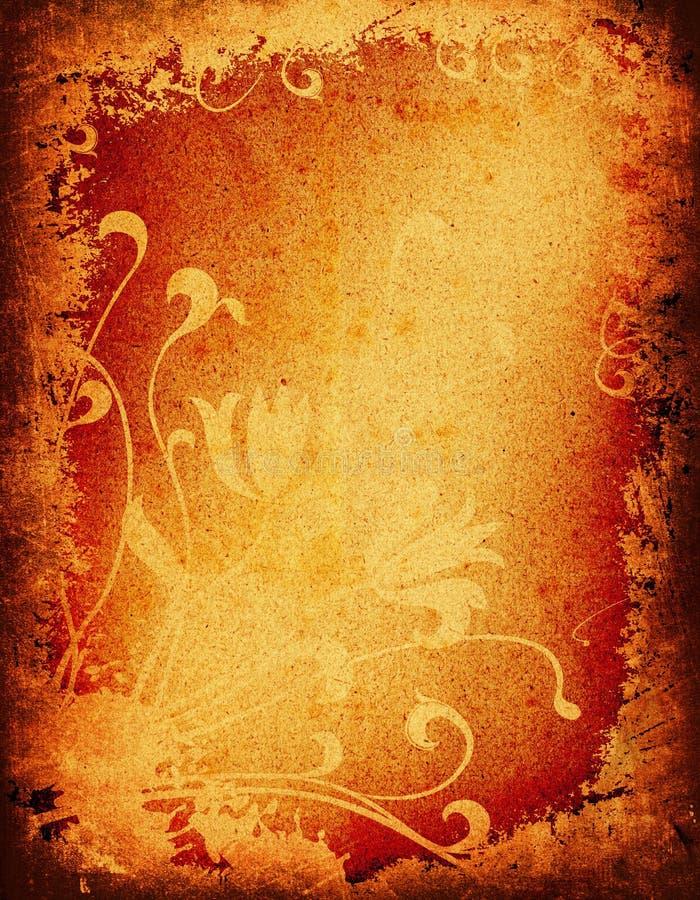 Het bloemenontwerp van Grunge vector illustratie