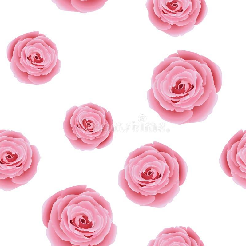 Het bloemenpatroon met nam toe stock illustratie