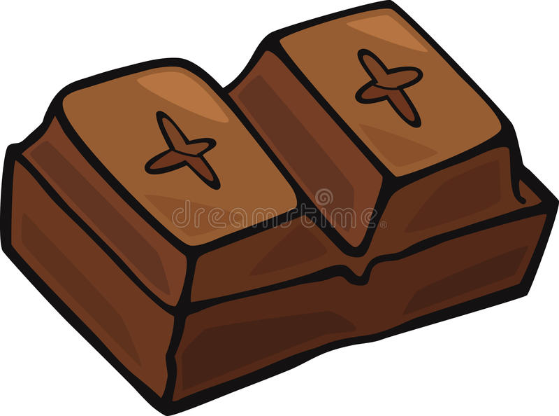 Het blok van de chocolade vector illustratie