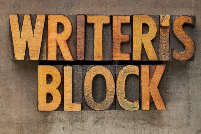 Het blok van de schrijver in letterzetseltype royalty-vrije stock foto's