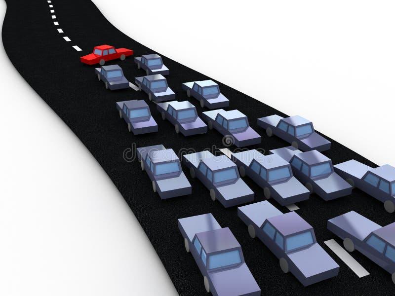 Het blok van de weg stock illustratie