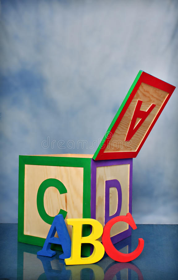 Het Blok van het Alfabet ABC royalty-vrije stock afbeelding
