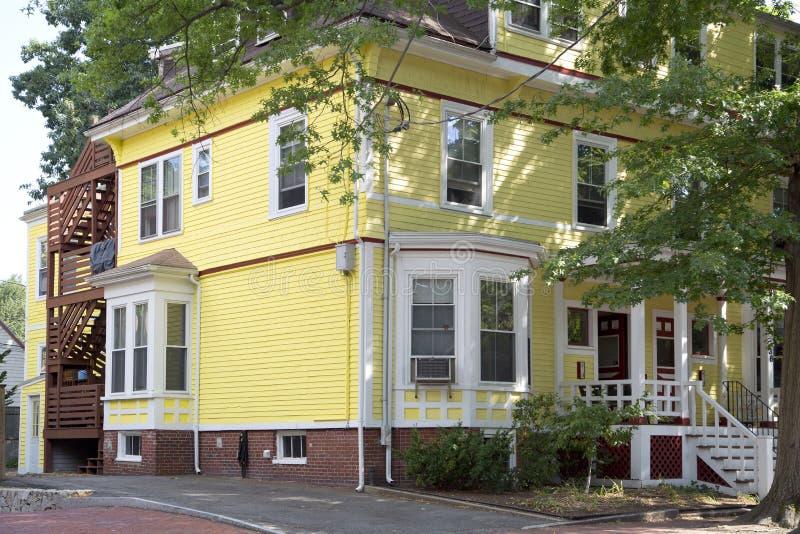 Het blokhuis van Nice in stad Boston royalty-vrije stock foto's