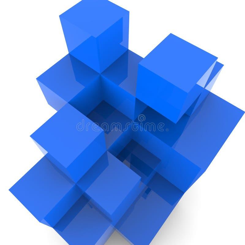 Het blokkenontwerp toont de Bouw Activiteit en Samenvatting stock illustratie