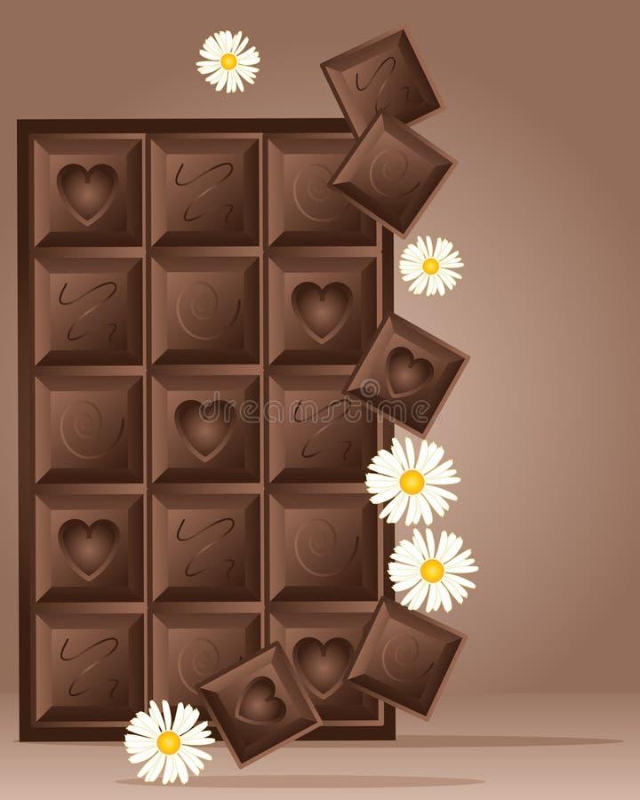 Het blokontwerp van de chocolade vector illustratie