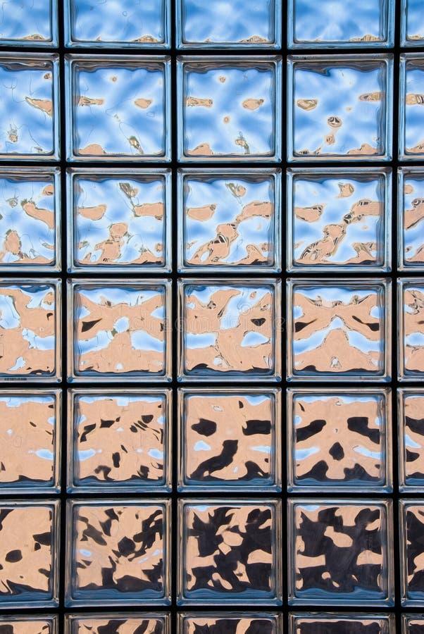 Het blokvenster van het glas stock fotografie