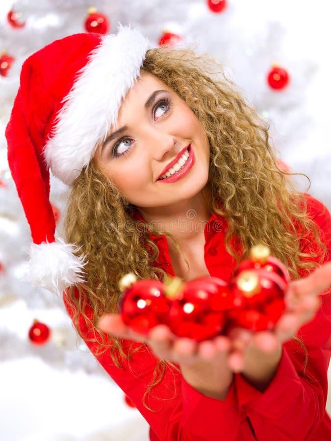Het Blonde Kuiken van Kerstmis royalty-vrije stock afbeelding