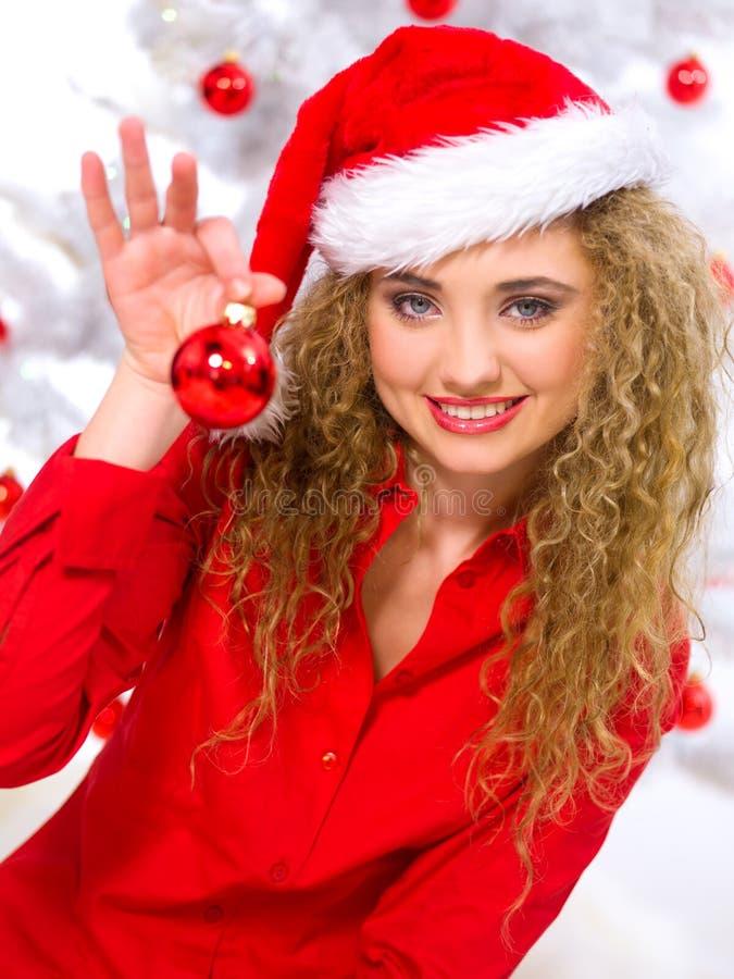 Het Blonde Kuiken van Kerstmis stock afbeelding