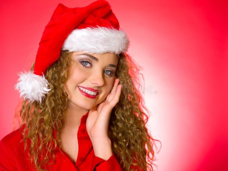 Het Blonde Kuiken van Kerstmis stock fotografie