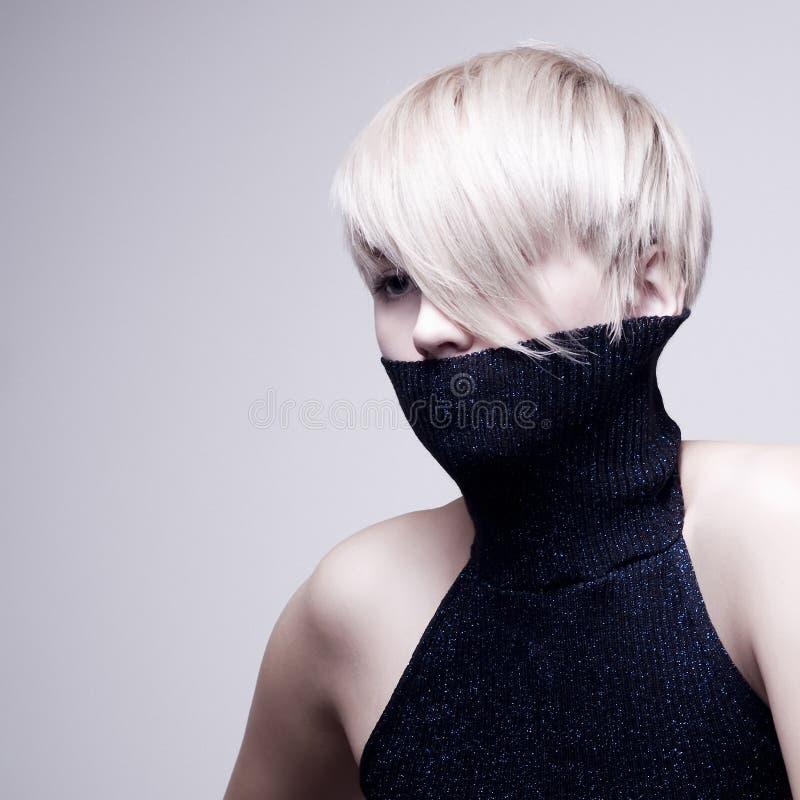 Het blonde meisje van de manier royalty-vrije stock fotografie