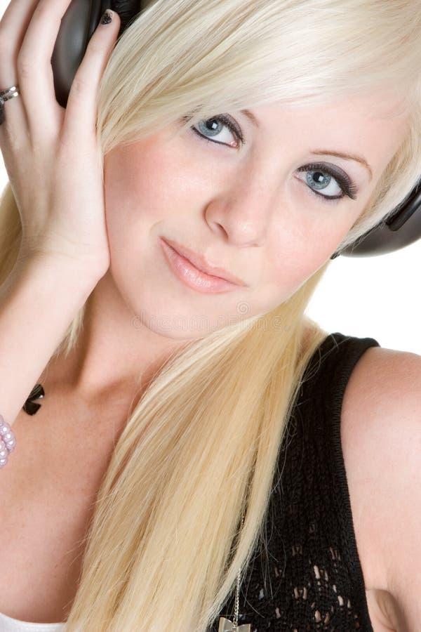 Het blonde Meisje van de Muziek stock foto