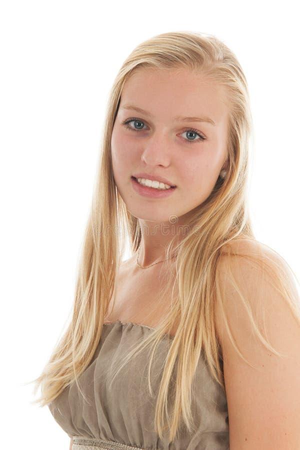 Het blonde Meisje van de Tiener royalty-vrije stock fotografie