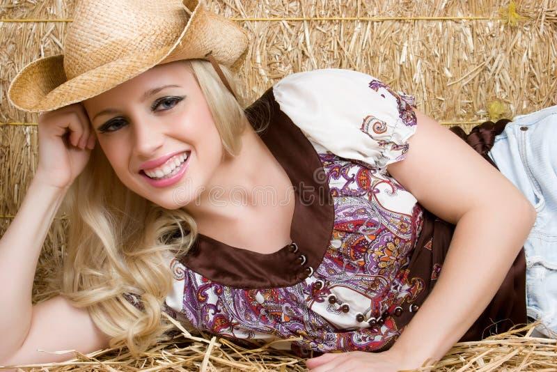 Het blonde Meisje van het Land stock afbeeldingen