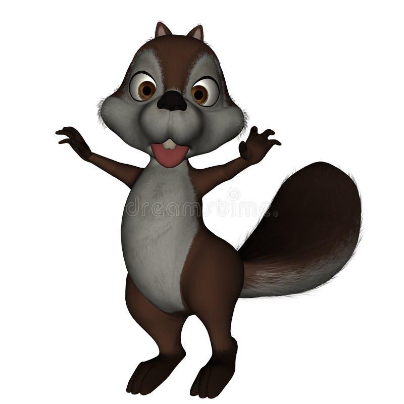 Het Boe-geroep van de eekhoorn royalty-vrije illustratie