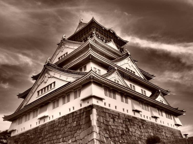 Het boeddhismekasteel Tempel van Japan Osaka stock afbeeldingen
