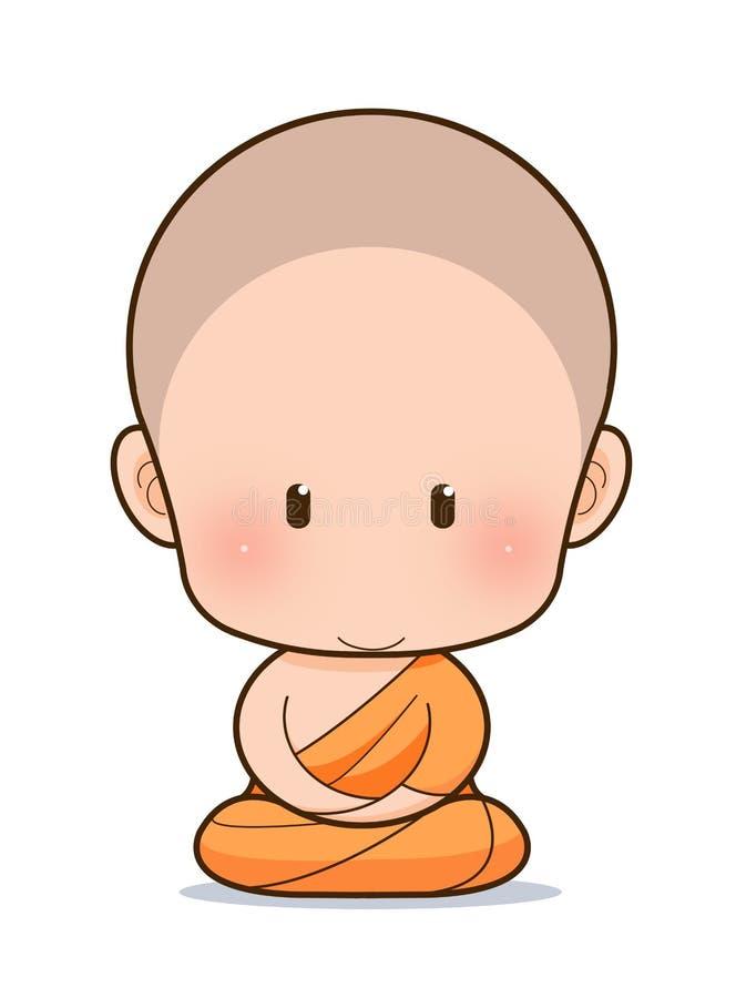 Het boeddhistische beeldverhaal van de Monnik vector illustratie