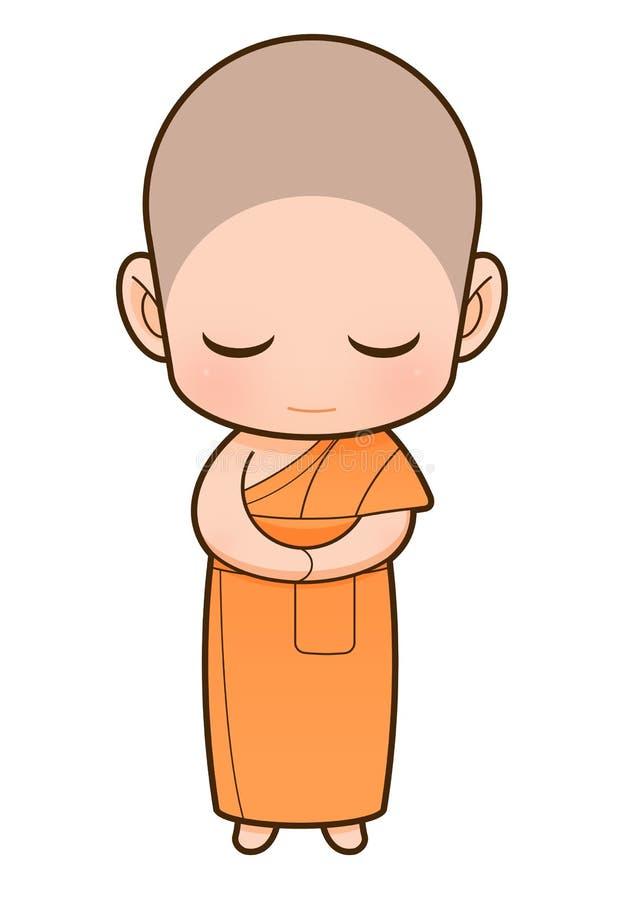 Het boeddhistische beeldverhaal van de Monnik royalty-vrije illustratie