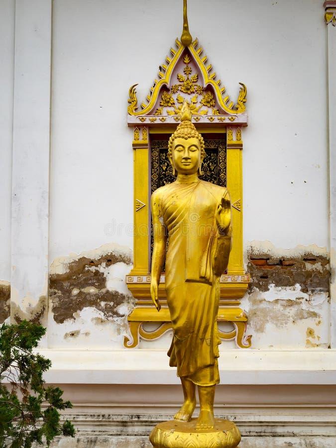 Het boeddhistische de Kathedralen van het het Boeddhismeheiligdom van tempelkloosters Thaise Thaise schilderen stock foto