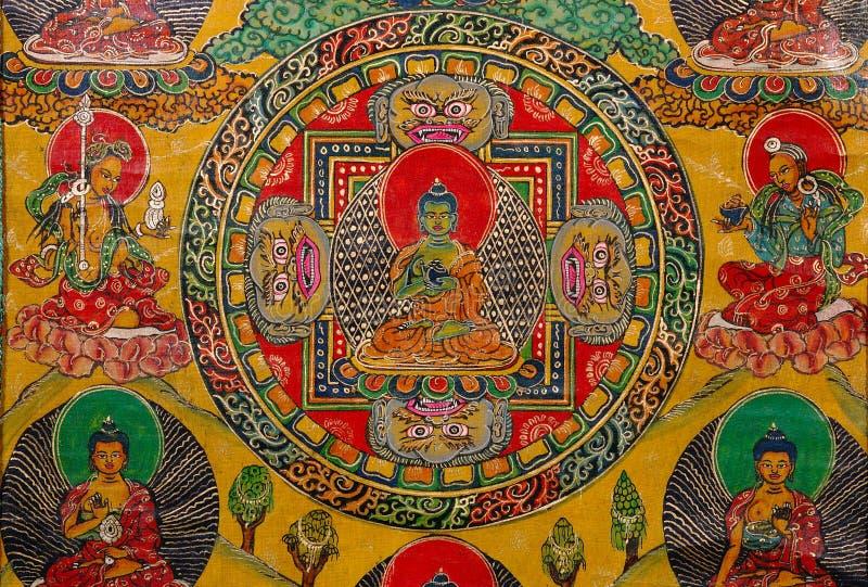 Het boeddhistische schilderen stock foto