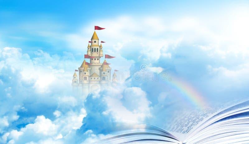 Het boek aan hemel royalty-vrije illustratie