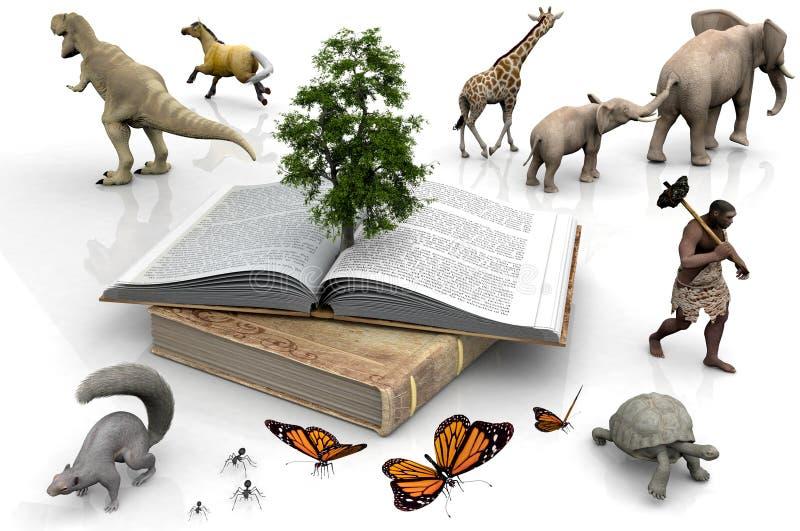Het boek en de dieren vector illustratie