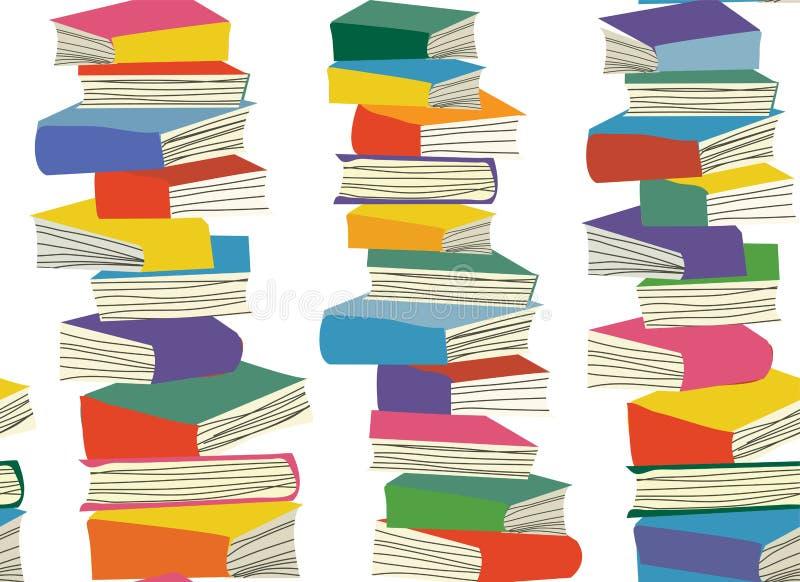 Het boek stapelt naadloos patroon op vector illustratie