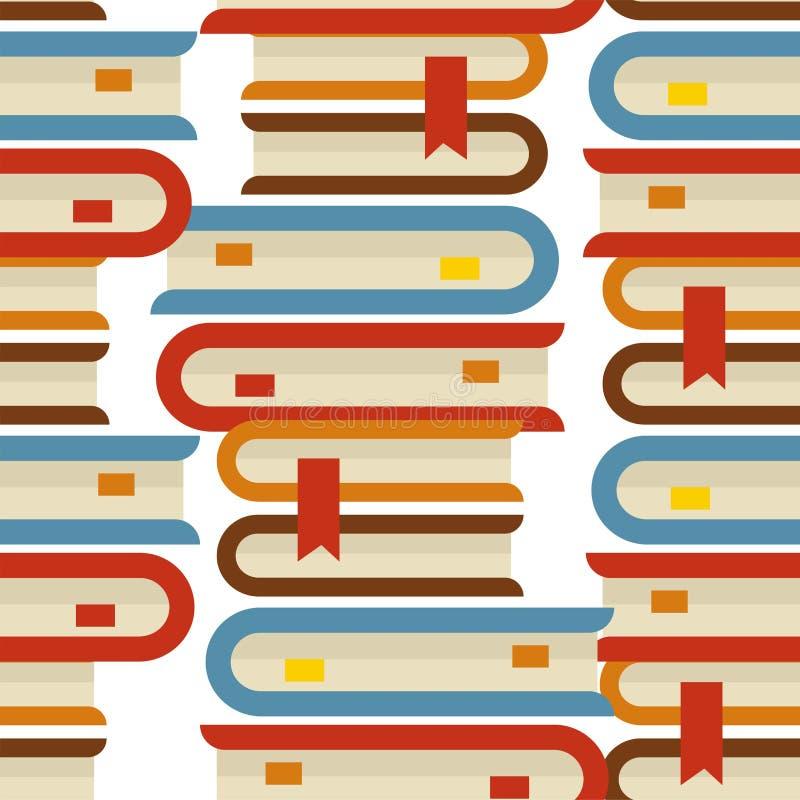 Het boek stapelt naadloze patroonreferenties en volumeshandboeken op vector illustratie