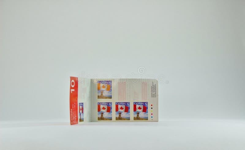 Het boek van Canadese cent 47 stempelt 3142 stock afbeelding