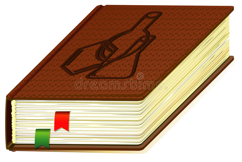 Het boek van de chemie stock illustratie