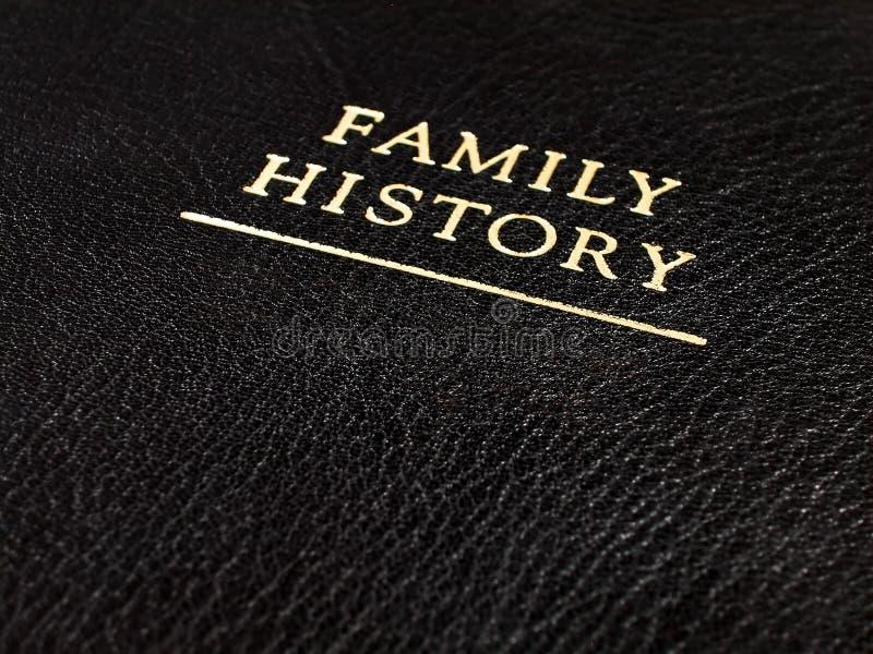 Het Boek van de Familiegeschiedenis van het leer royalty-vrije stock afbeelding