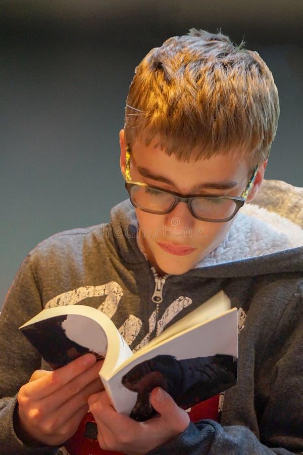 Het Boek van de de jeugdlezing stock fotografie