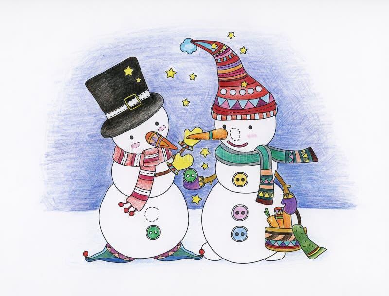 Het boek van de Kerstmiskleuring stock illustratie