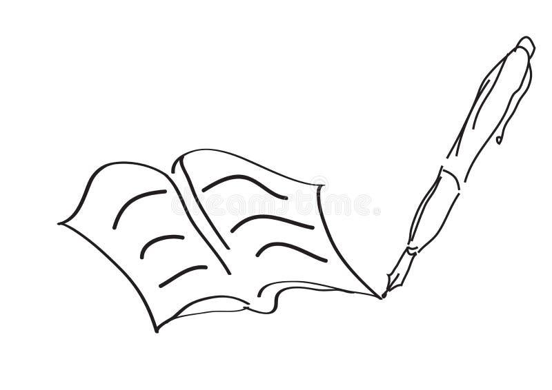 Het boek van de kunst - vector royalty-vrije illustratie