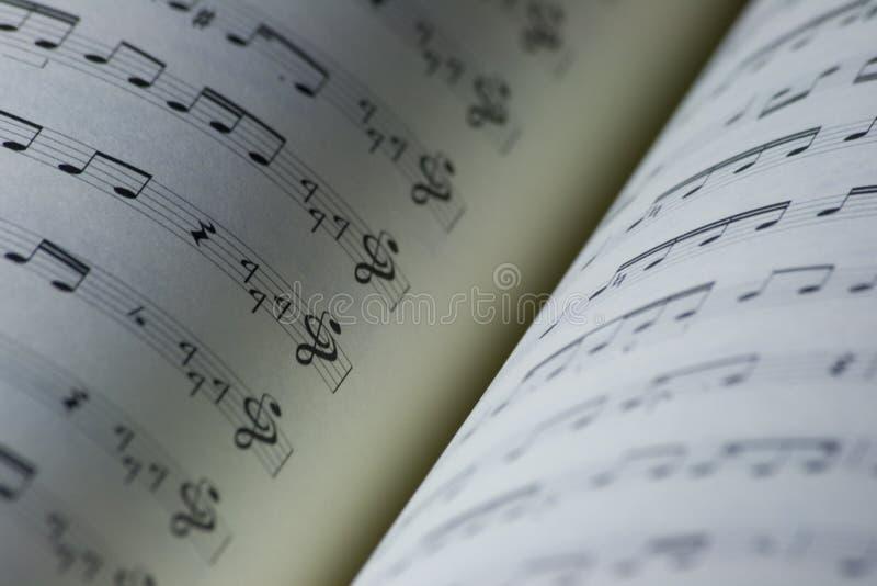 Muziekboek stock fotografie