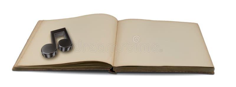 Het boek van de muziek stock afbeelding
