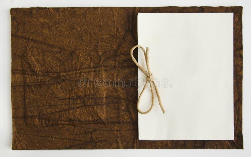 Het boek van de nota stock foto