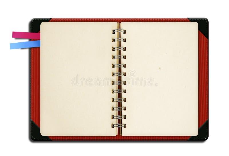 Het boek van de nota met referentie royalty-vrije stock foto