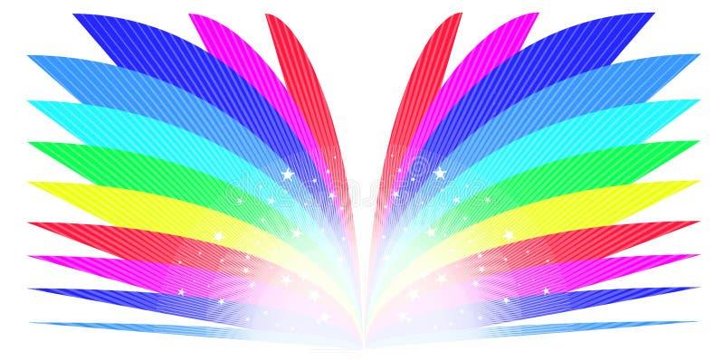 Het Boek van de regenboog stock illustratie
