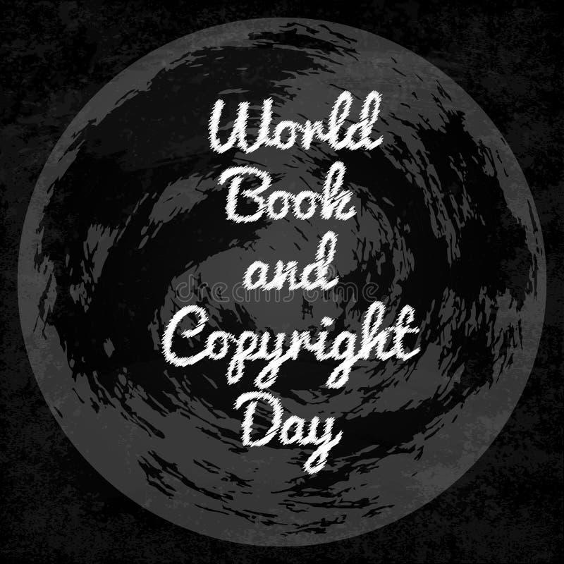 Het boek van de wereld en auteursrechtdag royalty-vrije illustratie