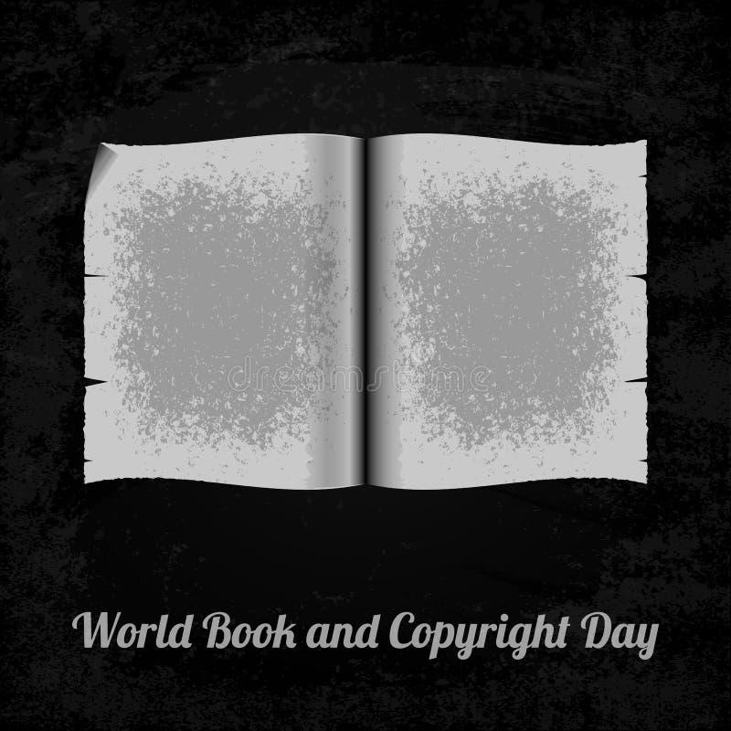 Het boek van de wereld en auteursrechtdag vector illustratie