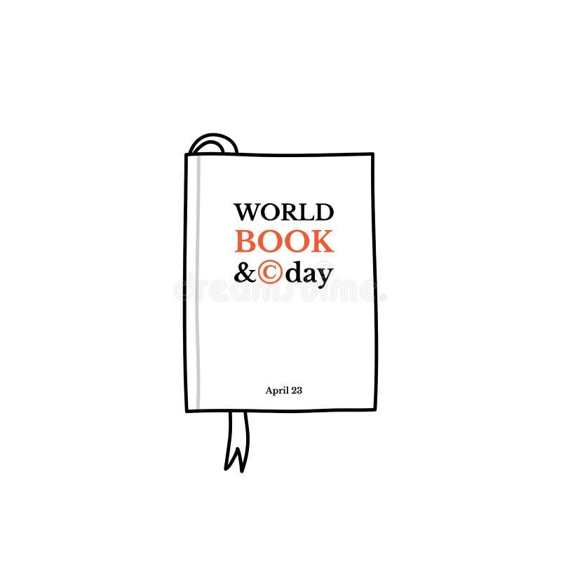 Het boek van de wereld en auteursrechtdag stock illustratie