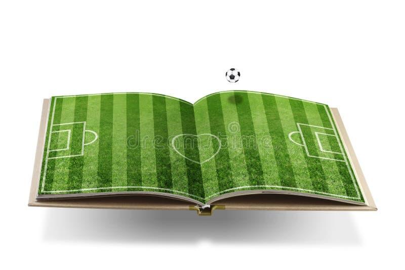 Het boekconcept van het voetbal vector illustratie