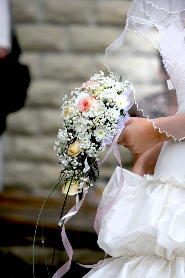 Het boeket dichte omhooggaand van het huwelijk stock foto