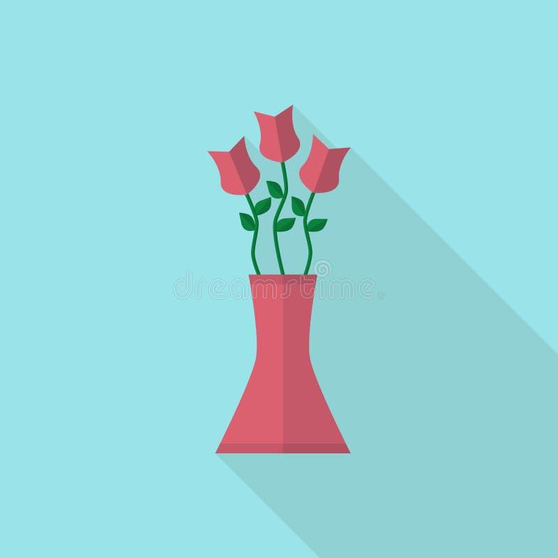 Het boeket van bloemen in vaas stock illustratie